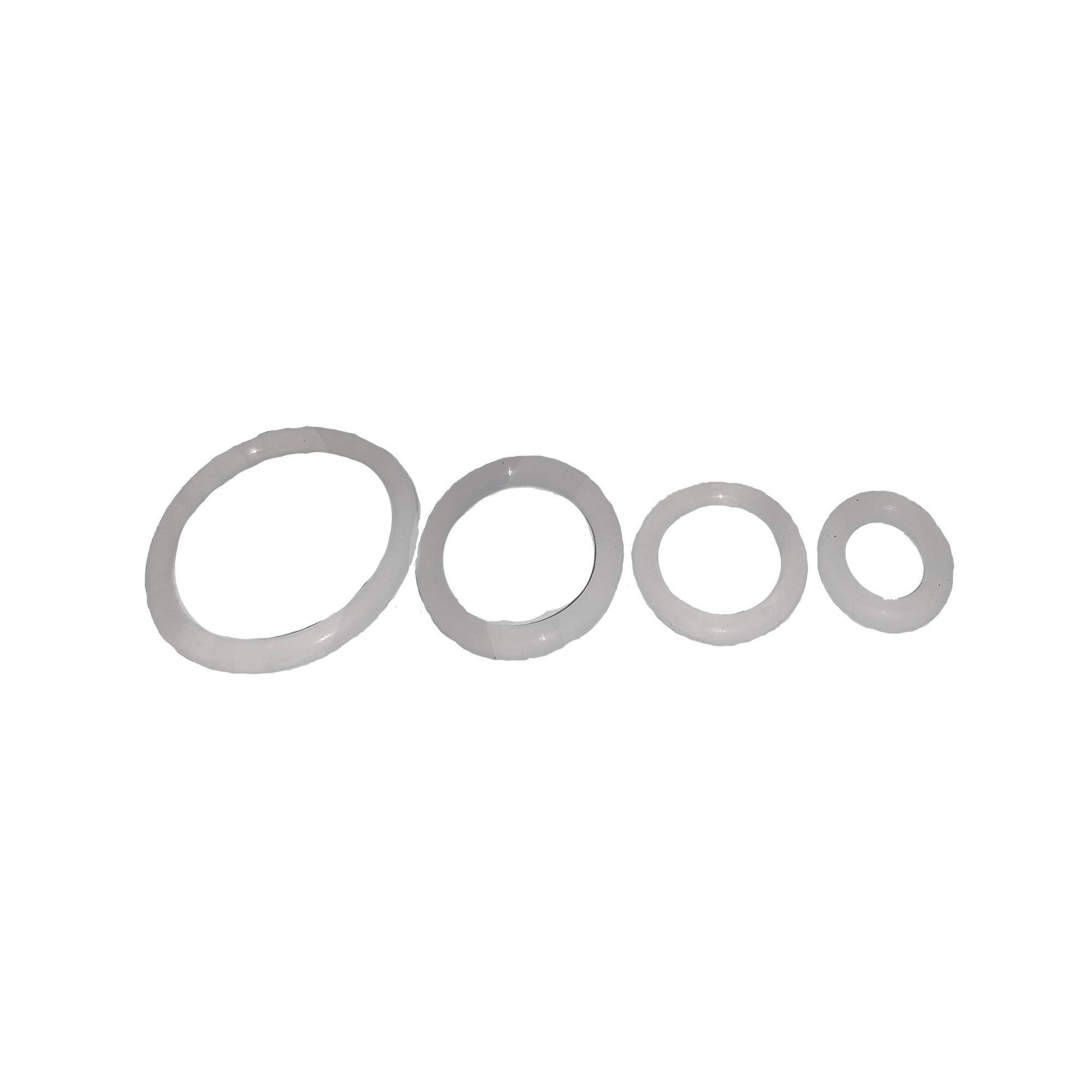 Упаковка колец силиконовых 100 шт пищевых термостойких 16мм*11.2мм*2.4мм J.G. - 1