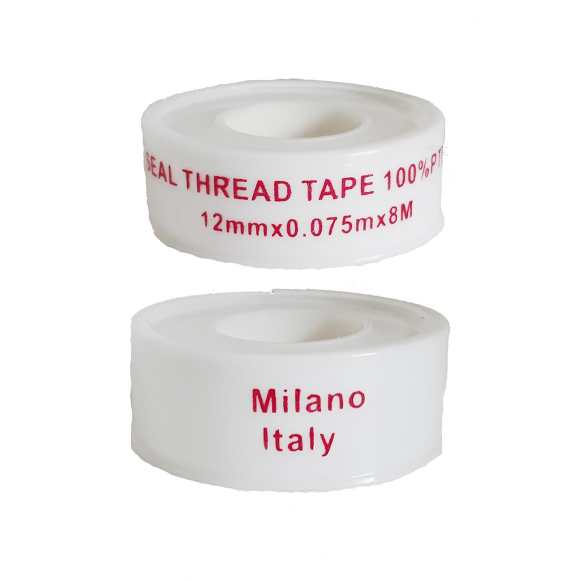 Упаковка фум ленты 10 шт белая Milano 12*0.075*8м  - 1