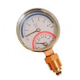 Термоманометр (манометр+термометр) 1/4 120С,1-6 bar J.G. - 1