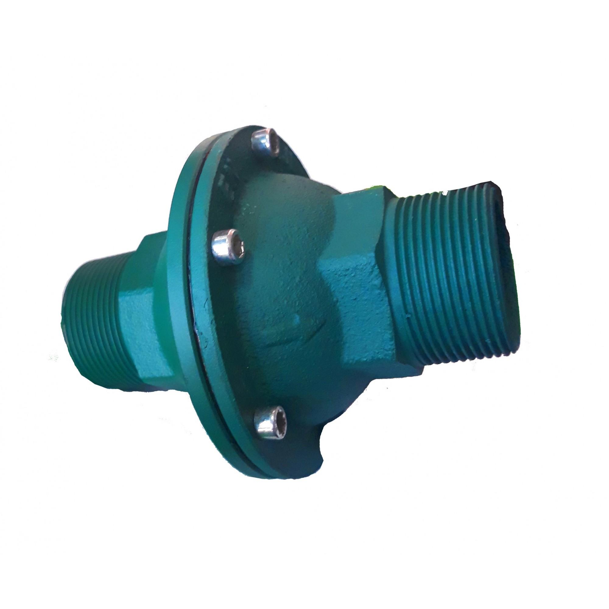 Обратный клапан для отопления 40, 1 1/2 чугунный с резиновым шариком, Польша усиленный  - 1
