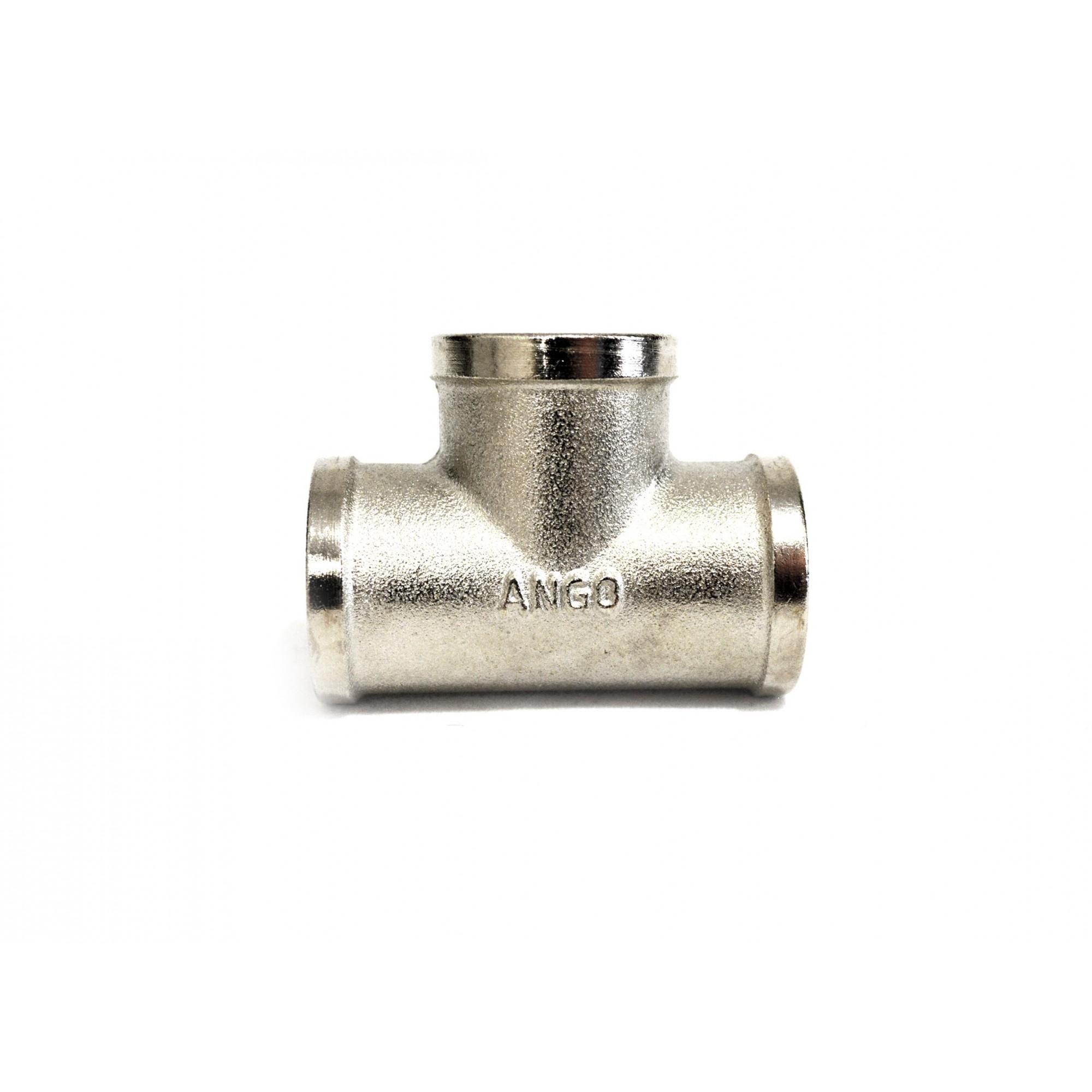 Тройник 1/2ввв никелированный ANGO ANGO - 1