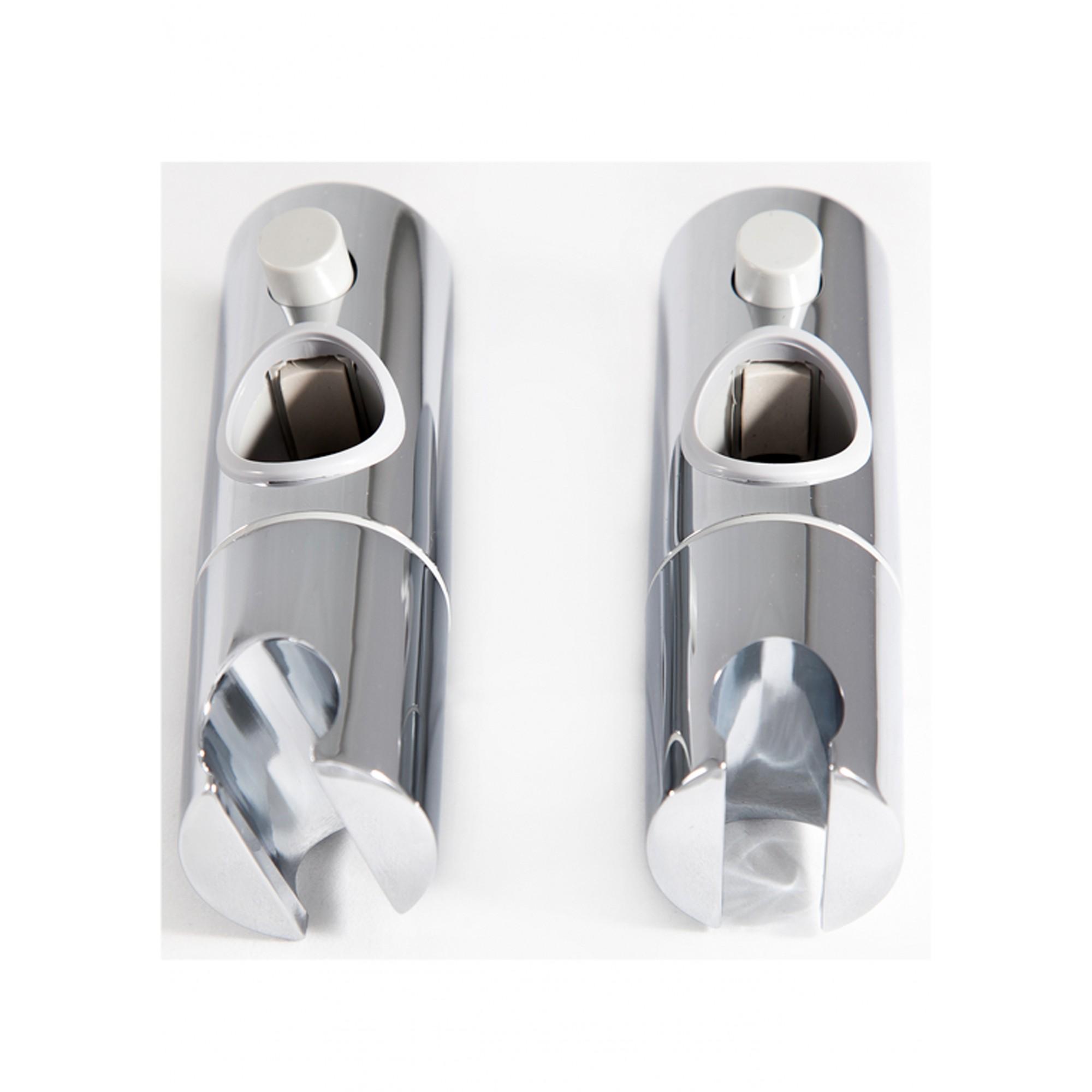 Держатель лейки душа пластиковый с кнопкой и трещеткой, поворотный Н56 для стойки 25 мм ANGO ANGO - 1