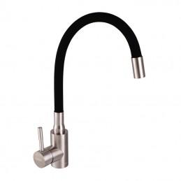 Смеситель для кухни с черным силик. изливом HAIBA SUS 011 (HB3790) Haiba - 1