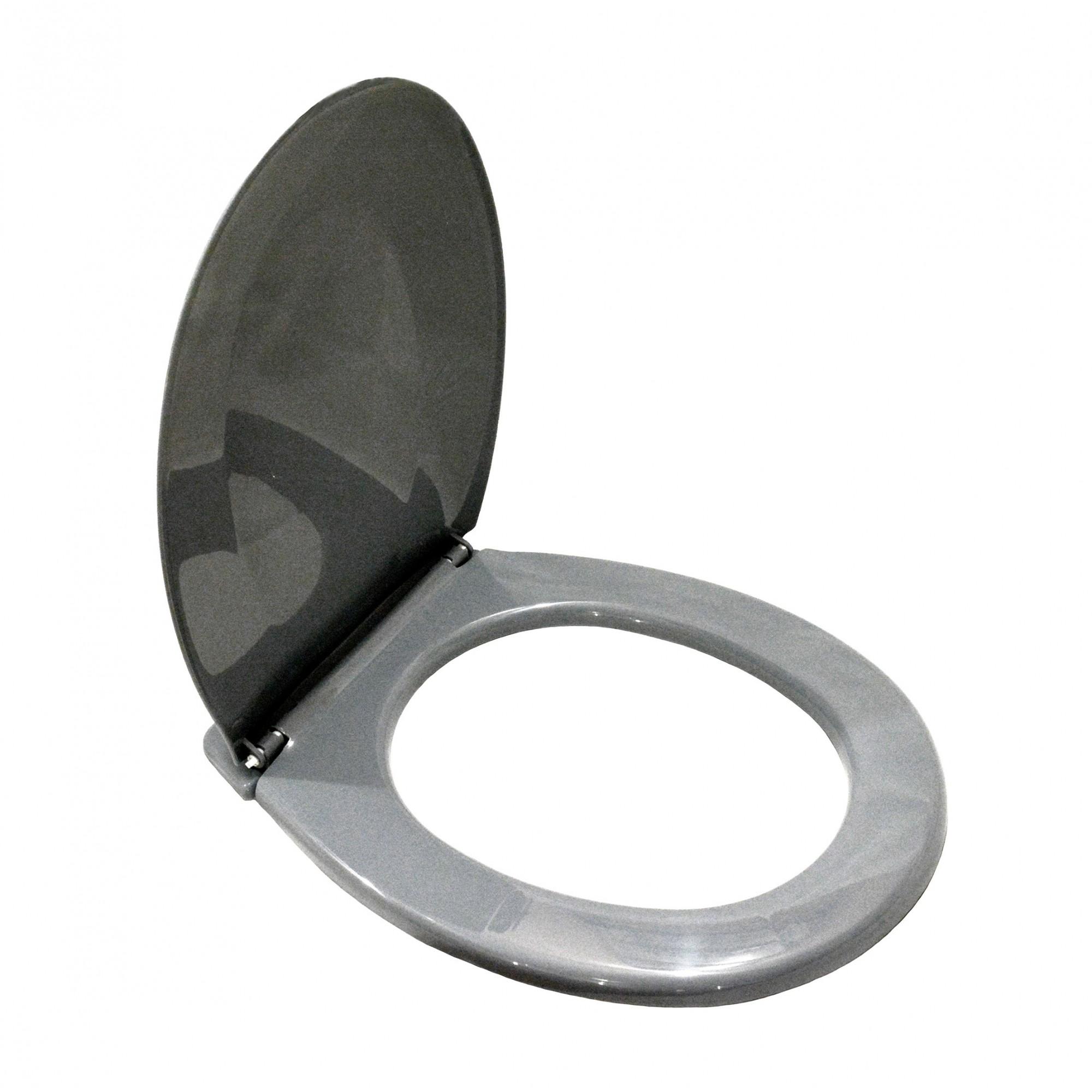 Крышка для унитаза белая SYDANIT СД 21, полиропилен, металлик SYDANIT - 3
