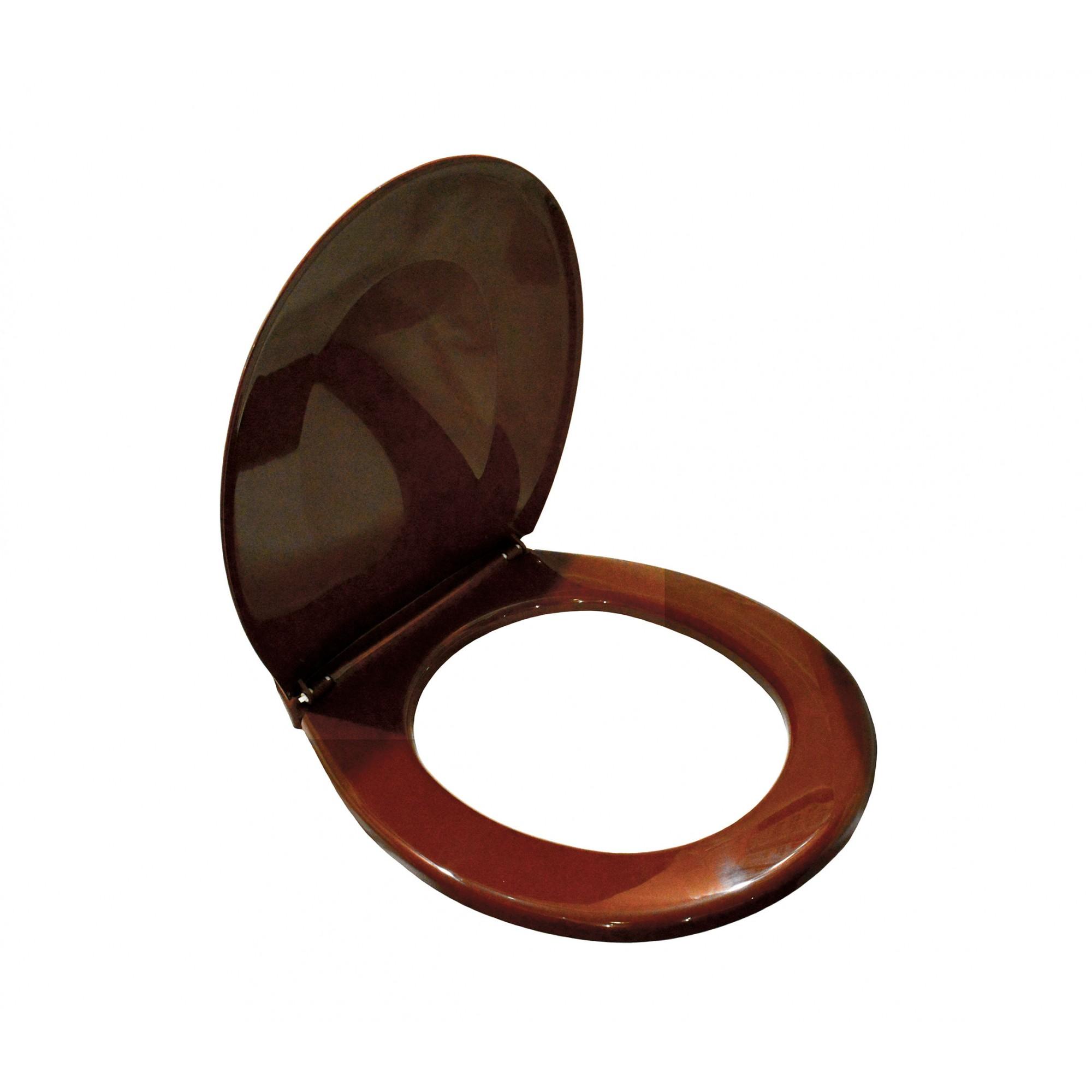 Крышка для унитаза белая SYDANIT СД 21, полиропилен, коричневая SYDANIT - 3