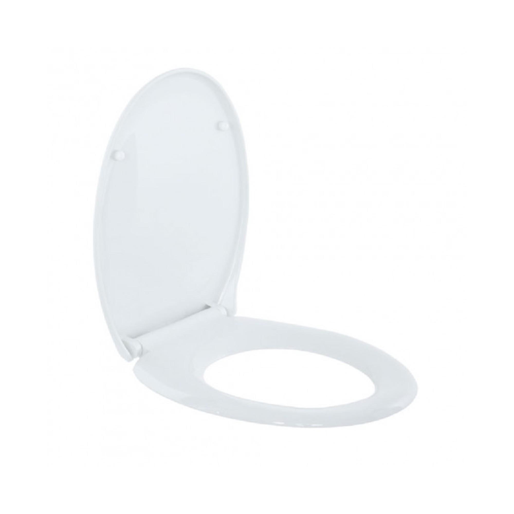 Крышка для унитаза Soft Close UNIVERSAL дюропласт, микролифт, белая