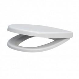 Крышка для унитаза белая Soft Close CEZAR, дюропласт с микролифтом