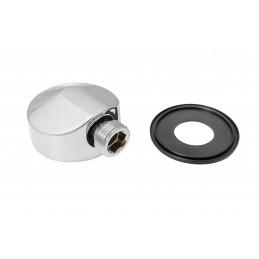 Угол для душевой кабины проходной, круглый c резиновым уплотнителем 1/2*1/2, хром, латунь YD-607 Z ANGO ANGO - 1