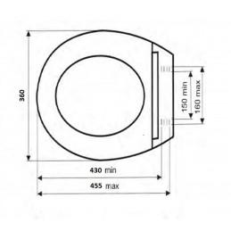 Крышка для унитаза SYDANIT СД 10 полиропилен, цвет розовый SYDANIT - 4