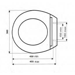Крышка для унитаза SYDANIT СД 21, полиропилен, металлик SYDANIT - 3
