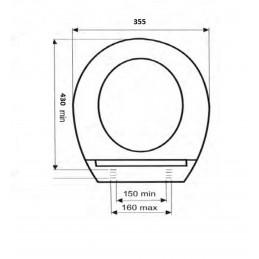 Крышка для унитаза белая SYDANIT СУ 79, полиропилен, металлический крепеж SYDANIT - 4