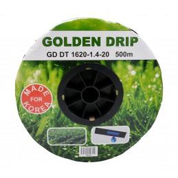 Капельная лента GOLDEN DRIP 1620, 1,4-20 с эмиттером 500м