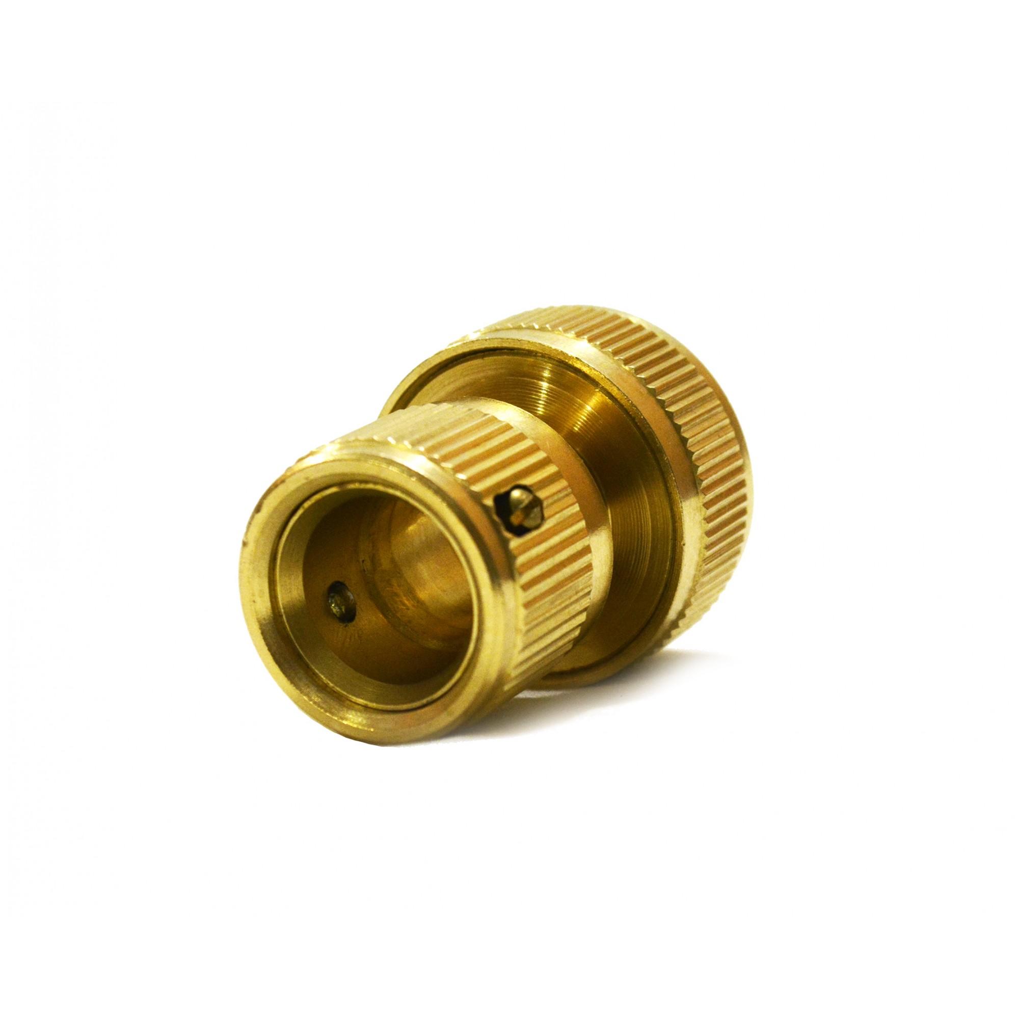 Коннектор для шланга 3/4 латунь QC-02