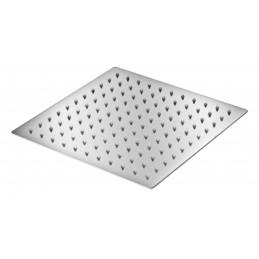Лейка потолочная квадратная нержавейка Ultra Slim силикон 150 мм (тропический душ) С-07Z(15) ANGO