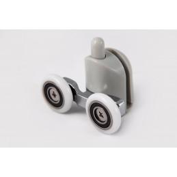 Ролик для душевой кабины двойной с кнопкой 8303 down 23мм (нижний) ANGO ANGO