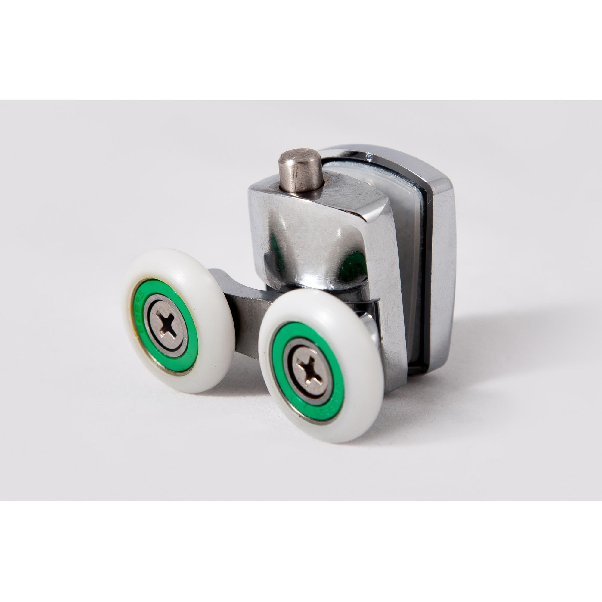 Ролик для душевой кабины двойной с кнопкой, нижний, 23 мм ANGO 10048down ANGO