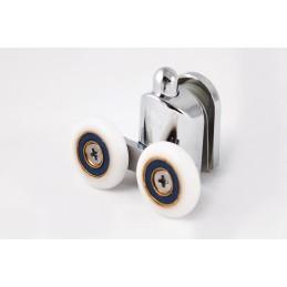 Ролик для душевой кабины двойной с кнопкой, нижний, 23 мм ANGO 10054down ANGO