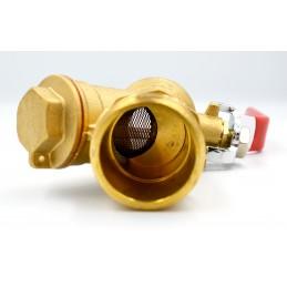 Кран з фільтром для водоміра/байпаса 1''нв Valve АВ 510 J.G.