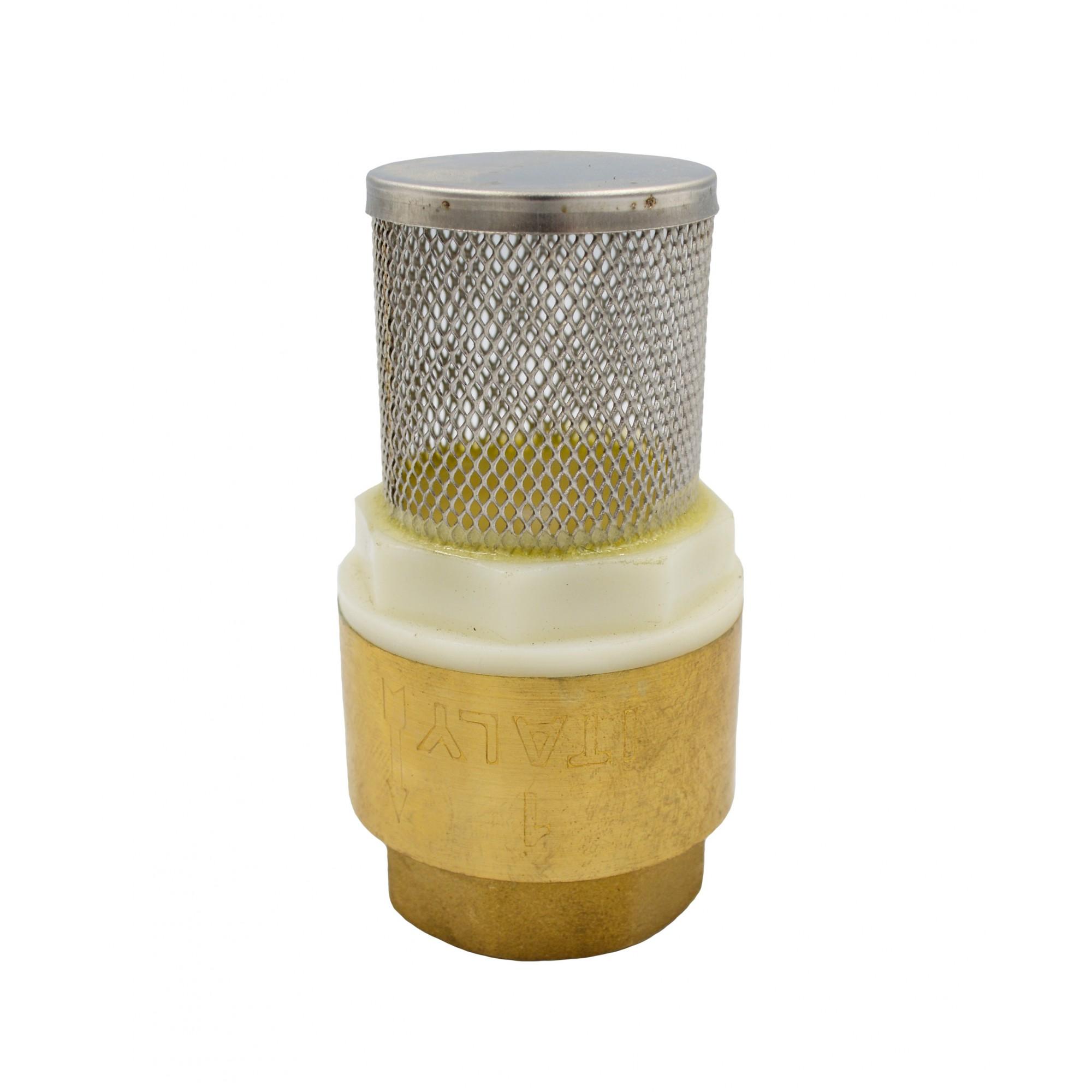 """Обратный клапан 1"""" с сеткой пластиковый шток J.G. J.G."""