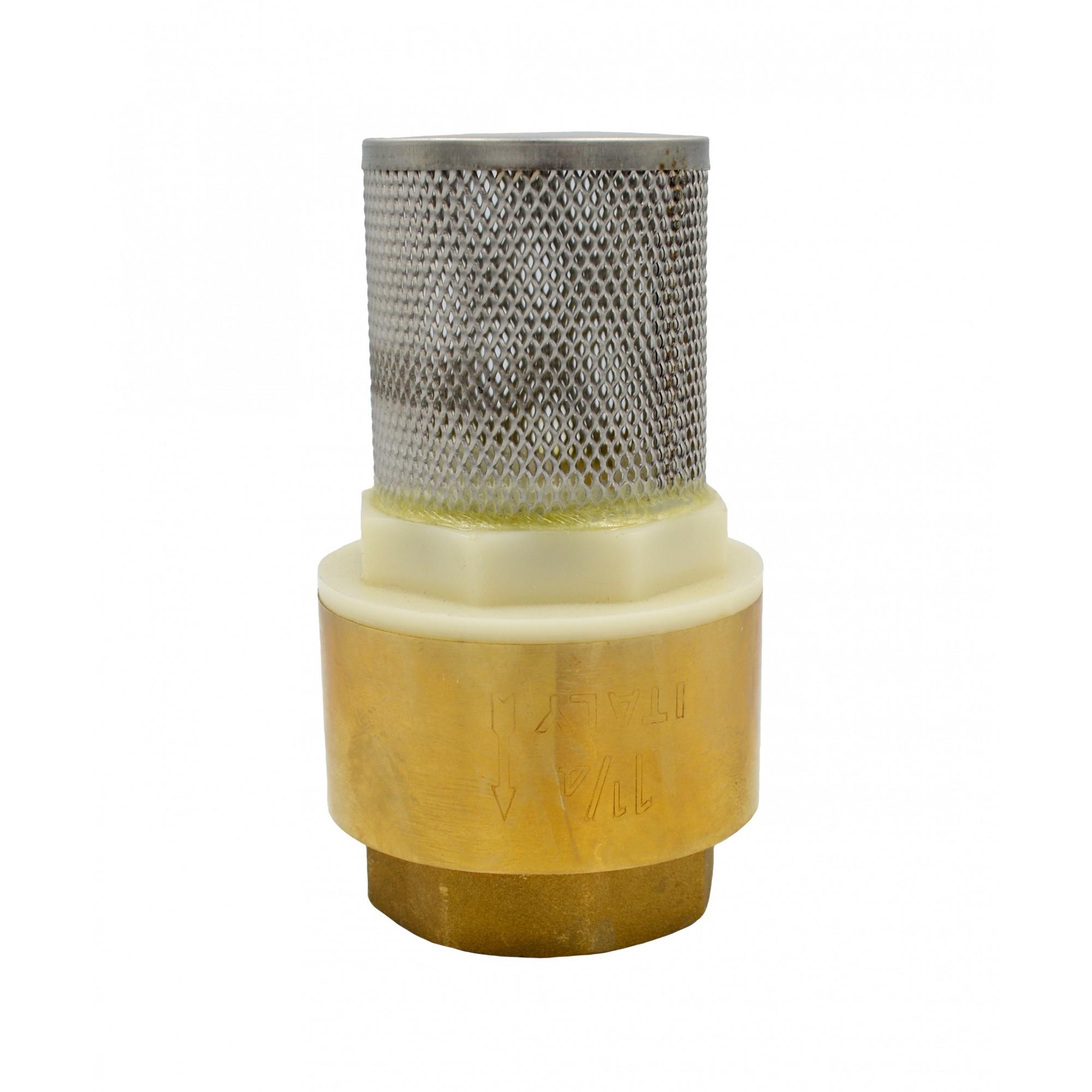 """Обратный клапан 1 1/4"""" с сеткой пластиковый шток J.G. J.G."""